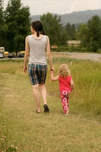 Walking with my daughter. Photo by Casey Margell