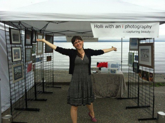 My first art fair booth @ Alki Art Fair!